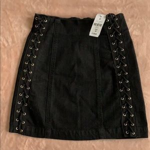 NWT LF Lace up Skirt